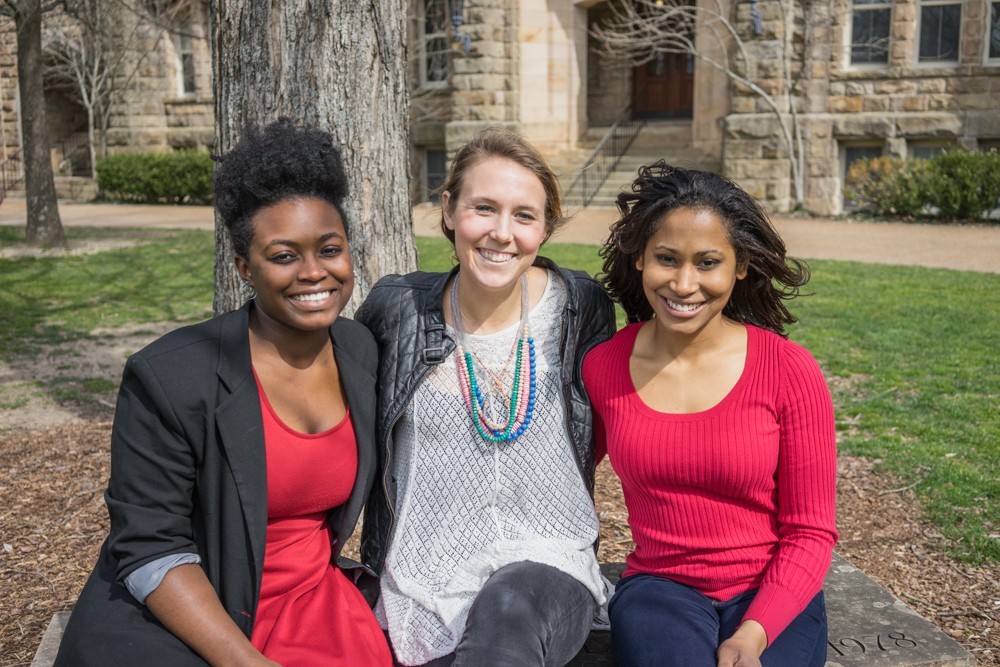 Left to right: Seniors Adreyauna Lewers, Liza Robinson, and Simey Hernandez are the student leaders of an effort that takes students from the classroom into local communities to provide education about living with diabetes.