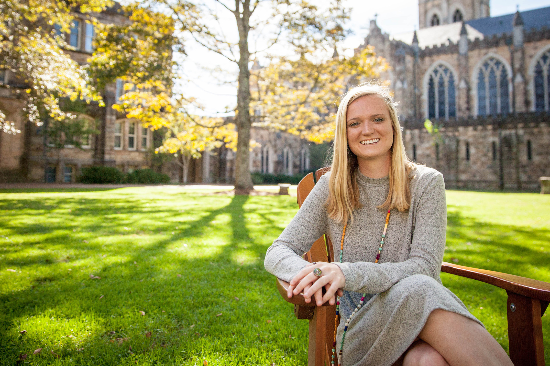 Kelsey Arbuckle, C'19, has pursued civic-engagement opportunities on the Mountain and in New Haven, Connecticut, where she worked for the National Diaper Bank Network.