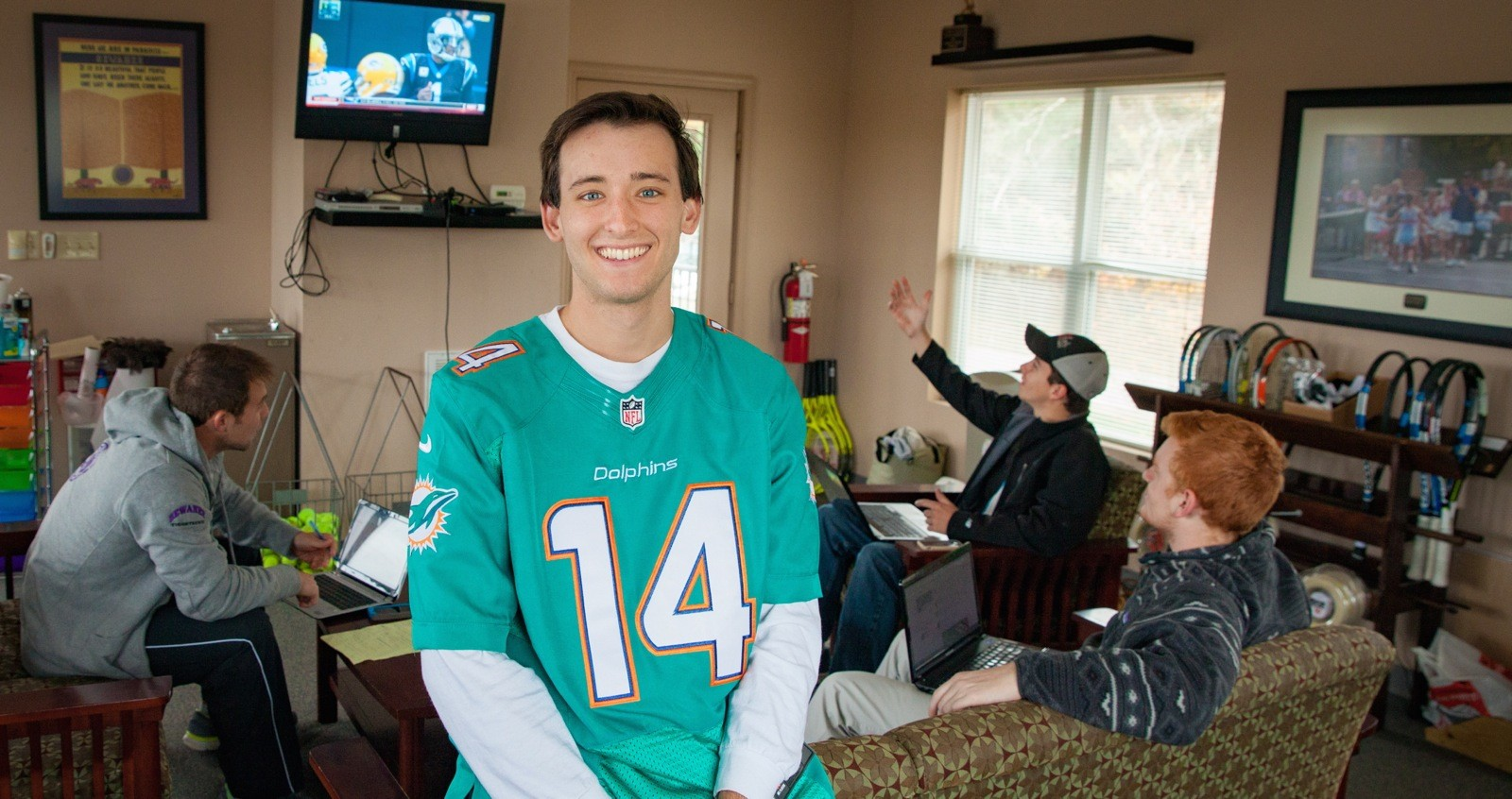 Game day: Every Sunday during the NFL season, Eric Roddy and friends gather for a day-long football binge.