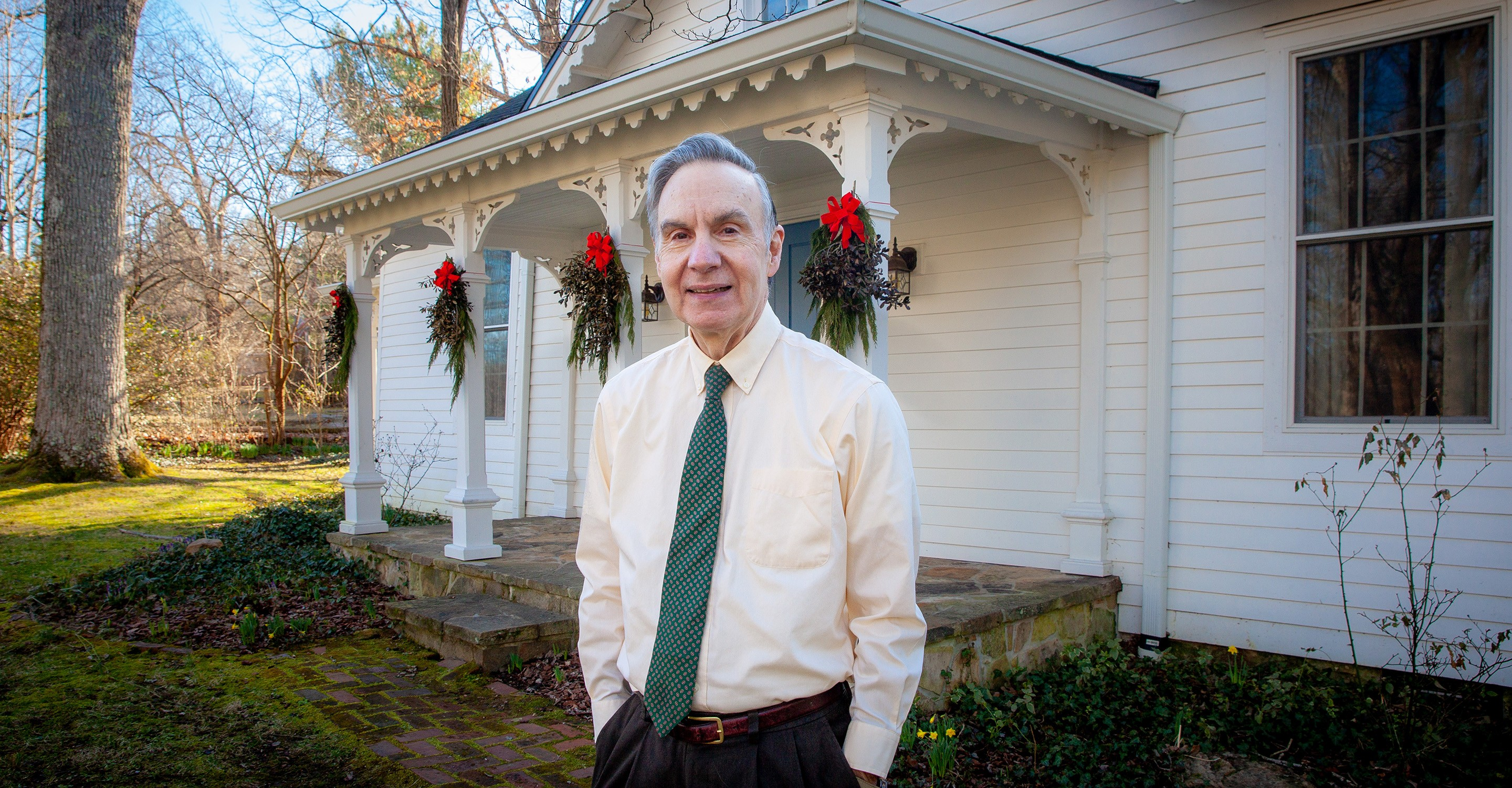 John Gatta at his home on Tennessee Avenue, built in 1871, in which he says he feels a connection to the lives that passed through it before his family arrived. Photo by Buck Butler