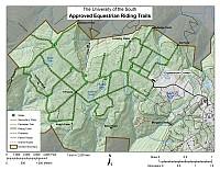Horseback riding trails on the Domain
