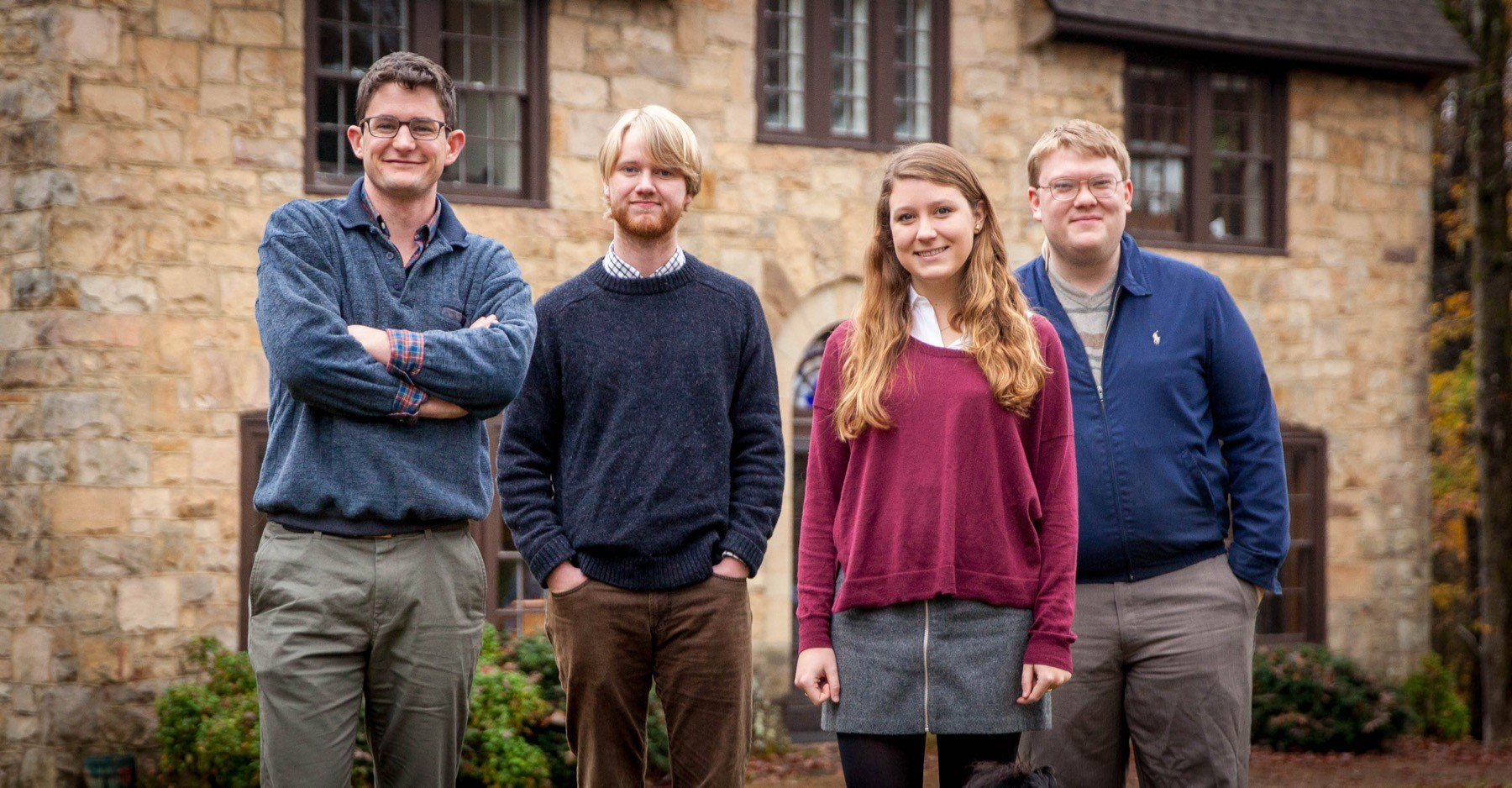 Left to right: Managing Editor Alec Hill, C'16, with Editorial Assistants Walt Evans, Annie Adams, and Spencer Hupp, all C'17.